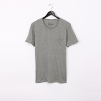 CREA pocket heather grey - 100% organic cotton origin